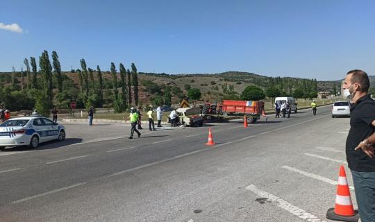 Çorum'da trafik kazası: 1 ölü, 4 yaralı