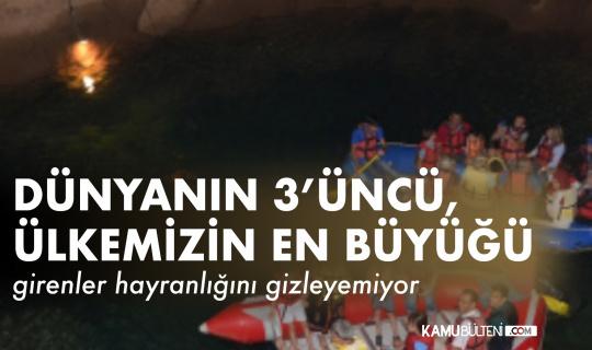 Dünyanın 3'üncü, Türkiye'nin ise en uzun yeraltı gölü mağarası yeniden ziyaretçileri ile buluştu