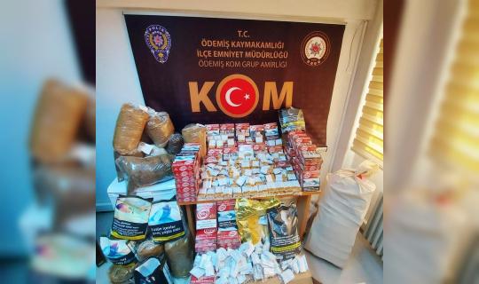 İzmir'de kaçak tütün operasyonu: 2 gözaltı