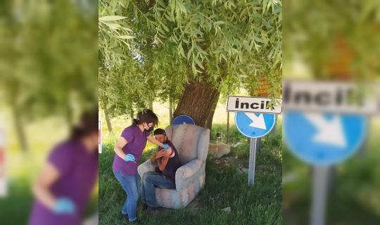 Köyde aşısını olmayan tek kişiye aşı yapıldı
