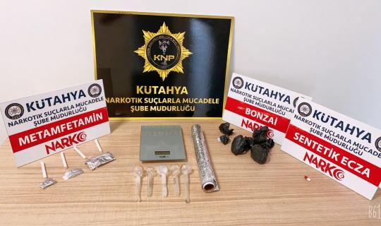 Kütahya'da uyuşturucu operasyonuna 2 tutuklama
