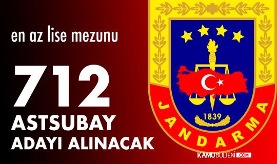 Lise Mezunlarından 712 Jandarma Astsubay Adayı Alınacak
