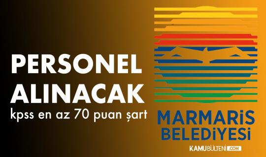 Muğla Marmaris Belediyesi'ne Zabıta Memuru Alınacak
