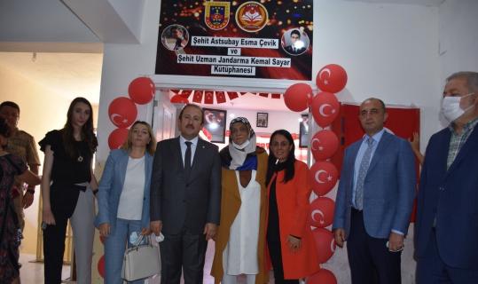 Şehit Esma Çevik ve Kemal Sayar adına kütüphane açıldı