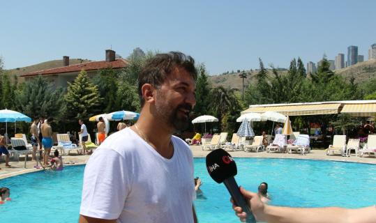 Sıcaktan bunalan Ankaralılar havuzlara akın etti