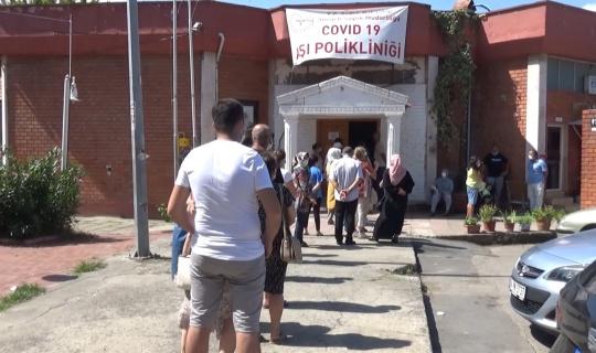 Sinop'ta aşı kuyruğu