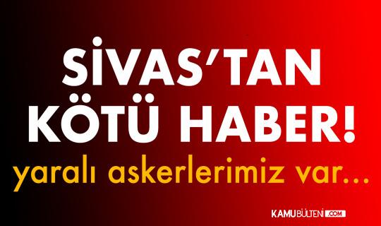 Sivas'ta Askeri Araç Şarampole Devrildi! Yaralı Askerlerimiz Var