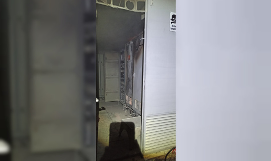 Trafodan çıkan yangına ekipler  müdahale etti