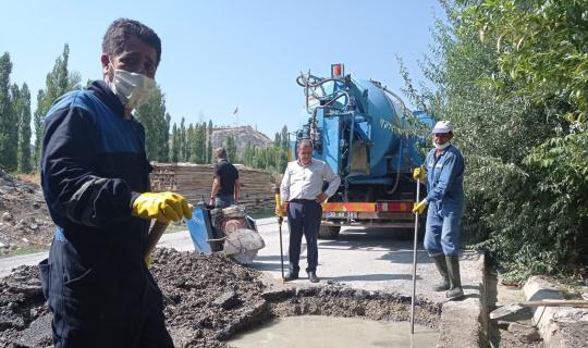 800 hanenin kanalizasyon sorunu giderildi