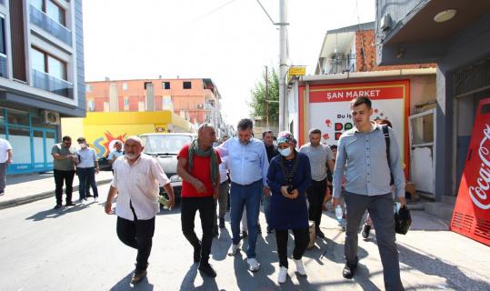 Başkan Sandal, Cengizhan ve Çiçek Mahallesi'ni ziyaret etti, sorunları dinledi