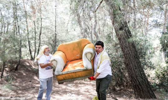 Buca'da orman seferberliği: Çöp ve atıklar bu kadarda olmaz dedirtti