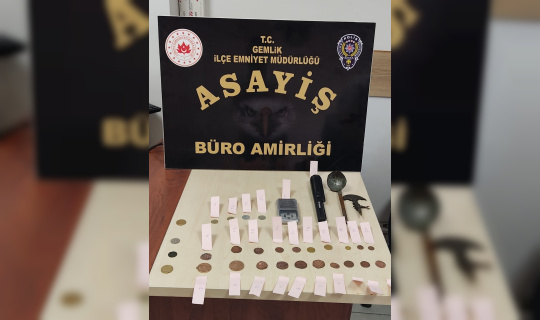 Bursa'da kaçak sikke ele geçirildi