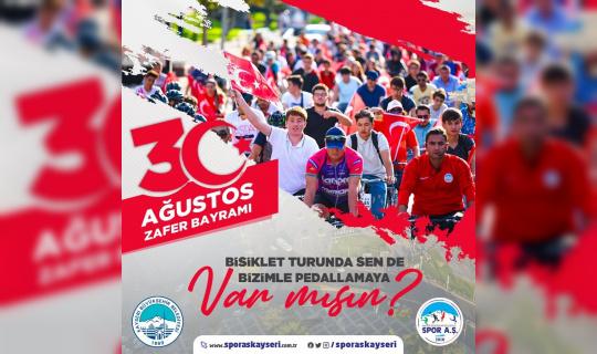 Büyükşehir'den 'Zafere Pedallıyoruz' sloganıyla bisiklet etkinliği