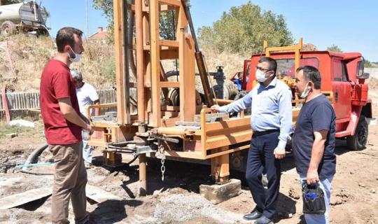 Çan Belediyesi şebeke suyuna takviye su sondaj çalışmasına başladı