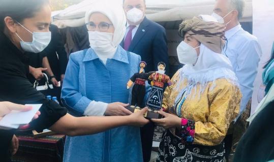 Cumhurbaşkanı Erdoğan ve eşi Emine Erdoğan'a yemeni hediye edildi