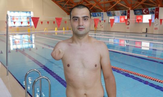 Engelli milli yüzücünün hedefi Avrupa şampiyonluğu