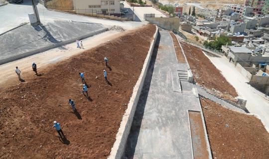 Eyyübiye Belediyesi ilçeye yeni yeşil alanlar kazandırıyor