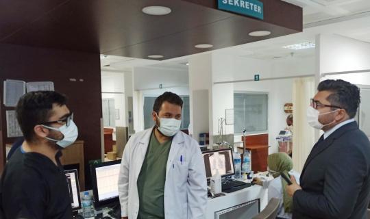 İl Sağlık Müdürü Bulut Acil Serviste incelemelerde bulundu