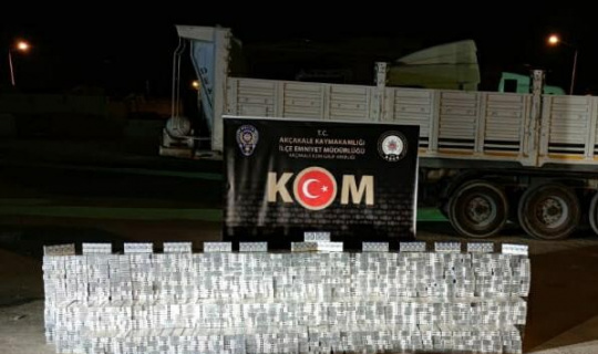 Şanlıurfa'da binlerce paket gümrük kaçağı sigara ele geçirildi