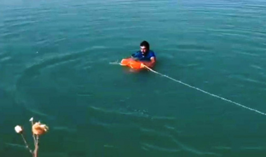 Şanlıurfa'da boğulmak üzere olan genç itfaiye ekiplerince kurtarıldı