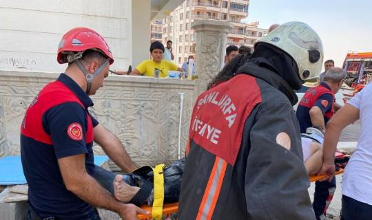 Şanlıurfa'da inşaatın 4'üncü katından düşen işçi yaralandı