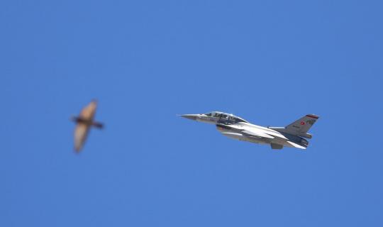 Sivas'ta F-16'nın prova uçuşu nefes kesti
