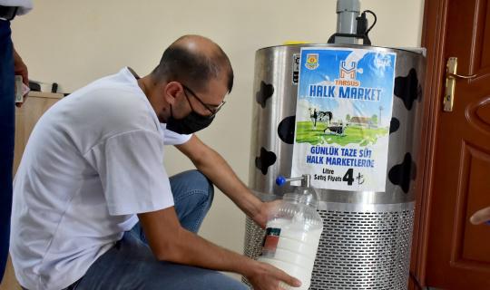 Tarsus Belediyesinden vatandaşa ucuz süt