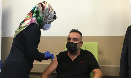 Türkovac Kayseri Şehir Hastanesi'nde gönüllülere uygulandı
