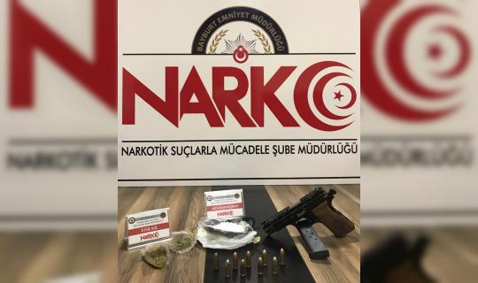 Bayburt'ta uyuşturucuya geçit yok: 2 kişi gözaltına alındı