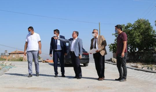 Erciyes Mahallesi'nde kilitli parke çalışması hızla sürüyor