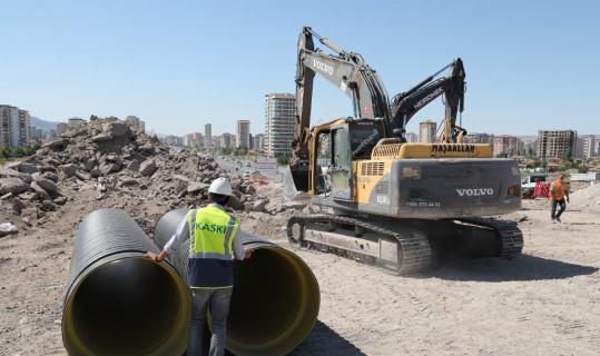 KASKİ'den Hulusi Akar Bulvarı'na 1 milyonluk kanalizasyon kolektör hatta çalışması