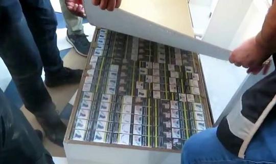 Siirt'te 90 bin TL değerinde kaçak sigara ele geçirildi