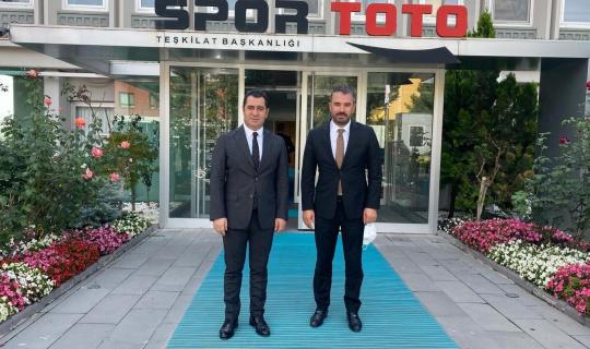 Spor Toto Teşkilat Başkanlığı'nda Pursaklar'ın spordaki geleceği ele alındı