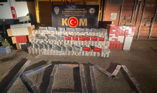 10 bin 790 paket kaçak sigara ele geçirildi