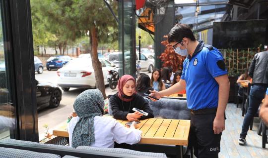 Pamukkale Belediyesi zabıtasından HES kodu denetimi