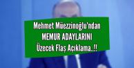 Bakan Müezzinoğlu'ndan Memur Adaylarını Üzecek Açıklama
