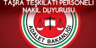 Adalet Bakanlığı'ndan Taşra Personeli Nakil Duyursu (Zabıt Katibi, Mübaşir, Hizmetli, Teknisyen ve Daha Fazlası)