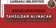 Çardaklı Belediyesi KPSS En Az 55 Puanla Tahsildar Alacak