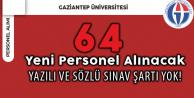 Gaziantep Üniversitesi Sözleşmeli Sağlık Personeli Alıyor