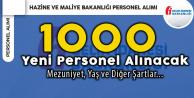 Hazine ve Maliye Bakanlığı GİB'e 1000 Yeni Personel Alınacak!
