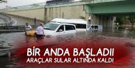 İstanbul'da Sağanak Hayatı Felç Etti! Araçlar Suya Gömüldü