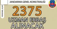 Jandarmaya 2 Bin 375 Uzman Erbaş Alınacak (En Az İlkokul Mezunu, Askerlik Şartsız)