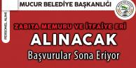 Mucur Belediyesi İtfaiye Eri ve Zabıta Memuru Alıyor