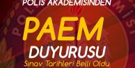 Polis Akademisi'nden PAEM Eğitim Sonu Sınav Duyurusu