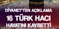 Diyanetten Açıklama :16 Türk Hacı Hayatını Kaybetti