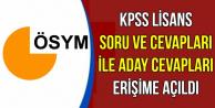 KPSS Lisans Soru-Cevap ve Aday Cevapları Erişime Açıldı