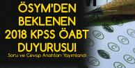 ÖSYM'den KPSS Duyurusu Geldi! Soru Kitapçıkları ve Cevap Anahtarları Yayımlandı