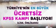 Türkiye'nin En Büyük Ücretsiz KPSS Eğitim Kampı Başlıyor!