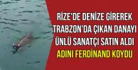 Yüzerek Rize'den Trabzon'a Giden Danayı Ünlü Sanatçı Aldı