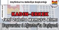 Zeytinburnu Belediyesi Kadın-Erkek Zabıta Memuru Alacak (Başvuru Tarihleri, Şartları)